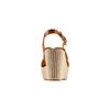 Sandali con zeppa in corda bata, marrone, 764-3117 - 15