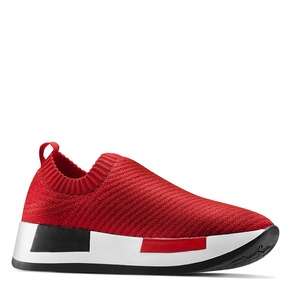 Sneakers elastiche platform bata, rosso, 539-5129 - 13
