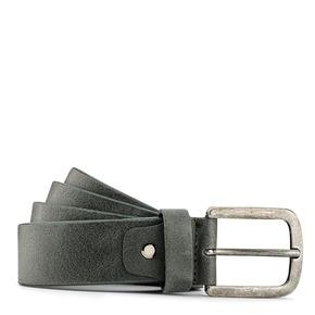 Cintura Made in Italy in pelle bata, grigio, 954-2166 - 13