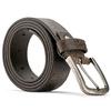 Cintura Made in Italy in pelle bata, marrone, 954-4166 - 26